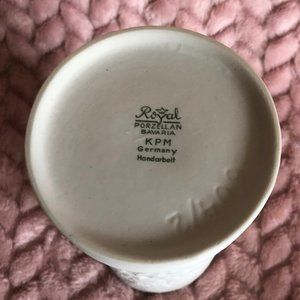 Royal KPM Accents - Royal KPM Germany Bisque Vase Vintage